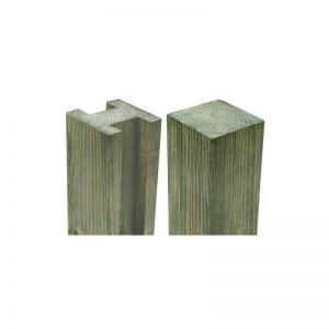 Forest Planed H Slotted Fence Post 94 x 94 x 2400mm