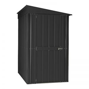 4'x6' (1.2x1.8m) Lotus Lean To Anthracite Grey Metal Shed