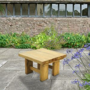 Forest Low Sleeper Wooden Garden Table 2'x2' (0.7x0.7m)