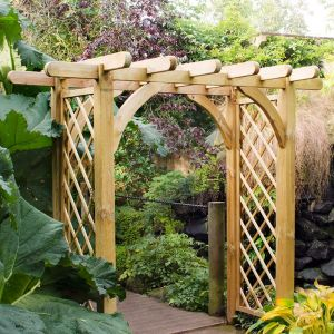 Forest Large Ultima Wooden Garden Pergola Arch 8' x 4'