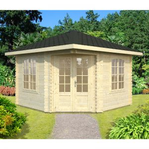 11'x11' (3.5x3.5m) Palmako Renate 44mm Log Cabin