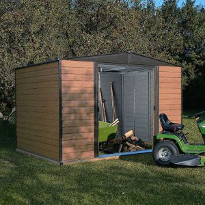 10' x 6' Rowlinson Woodvale Metal Apex Shed - Includes Floor & Installation (3.13m x 1.81m)
