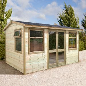 12x8 Ultimate Apex Garden Room - Half Glazed
