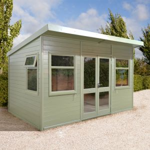 14x10 Ultimate Pent Garden Room - Half Glazed
