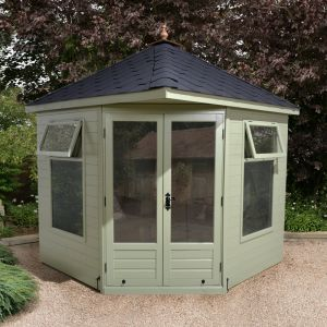 7'8x7'8 Ultimate Corner Summerhouse - Felt Tile Roof