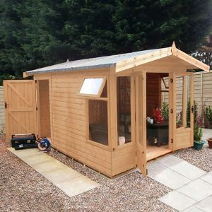 12x8 Ultimate Summerhouse with Rear Storage
