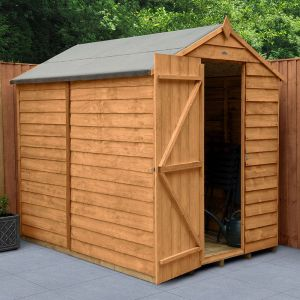 7' x 5' Forest Overlap Dip Treated Windowless Apex Wooden Shed