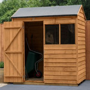 6' x 4' Forest Reverse Apex Wooden Shed