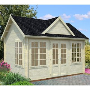 Palmako Claudia 3.9m x 3m Log Cabin Summerhouse (34mm)