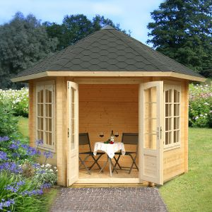 10x10 (3x3.4m) Palmako Hanna 34mm Log Cabin