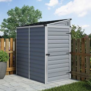 4x6 Palram Grey Skylight Pent Shed