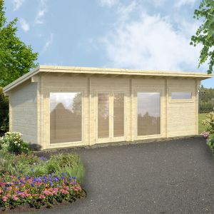 23x10 (6.9x3m) Palmako Violet 70mm Log Cabin