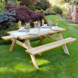 Forest 1.8m Large Rectangular Picnic Table