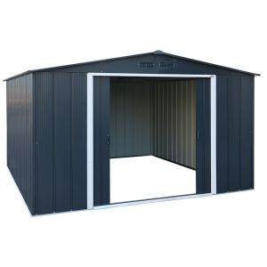 10' x 8' Sapphire Apex Anthracite Metal Shed