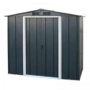 6' x 4' Sapphire Apex Anthracite Metal Shed
