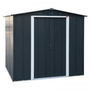 6' x 6' Sapphire Apex Anthracite Metal Shed
