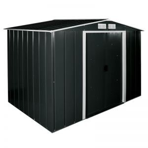 8'x6' (2.4x1.8m) Store More Sapphire Apex Anthracite Metal Shed