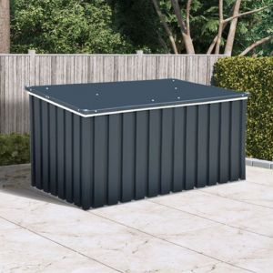 4' x 2' Sapphire Anthracite Metal Garden Cushion Storage Box (1.28m x 0.68m)
