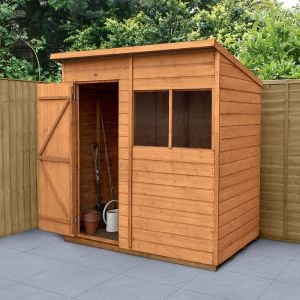 6' x 4' Forest Shiplap Dip Treated Pent Wooden Shed
