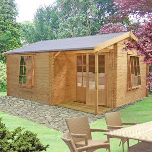 Shire Azay 2 4.5m x 4.2m Log Cabin Summerhouse