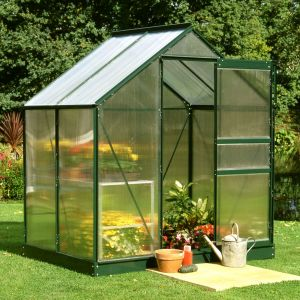 4x6 Green Frame Polycarbonate Greenhouse