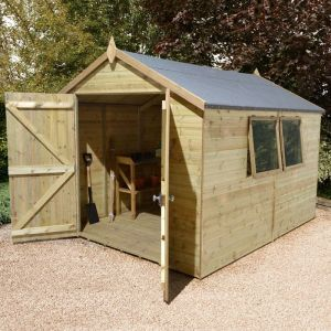 12' x 8' Apex Double Door Garden Workshop