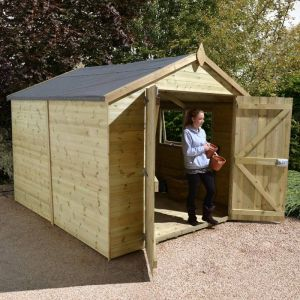 14' x 8' Apex Double Door Garden Workshop