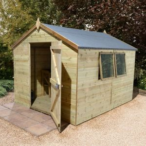 14' x 8' Apex Single Door Garden Workshop