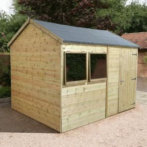 14' x 8' Reverse Apex Single Door Garden Workshop