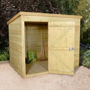 7x5 Shed Republic Ultimate Heavy Duty Pent Shed - Single Door on Left