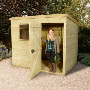 7x5 Shed Republic Ultimate Heavy Duty Pent Shed - Single Door on Right