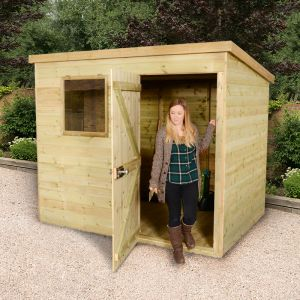 8x6 Shed Republic Ultimate Heavy Duty Pent Shed - Single Door on Right