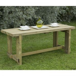 Forest Refectory Wooden Garden Table 6'x2' (1.8x0.7m)