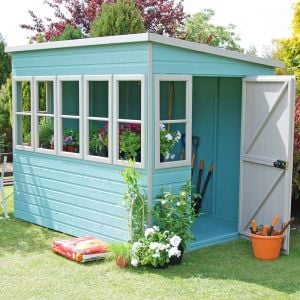 10'x6' (3x1.8m) Shire Sun Pent Potting Shed