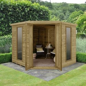 8x8 Forest Arlington Premium Tongue And Groove Corner Summerhouse