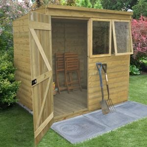 7x5 Tongue & Groove Pressure Treated Pent Shed