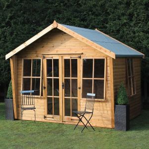 12' x 10' (3.66x3.05m) Traditional Wychwood Summerhouse