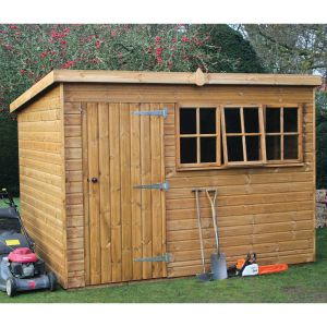 14' x 8' (4.28x2.44m) Traditional Heavy Pent Shed