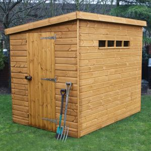 8' x 6' (2.44x1.83m) Traditional Pent Security Shed