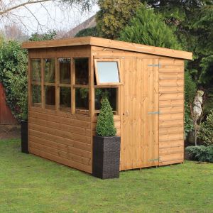 8' x 6' (2.43x1.83m) Traditional Sun Pent 6' Gable Shed