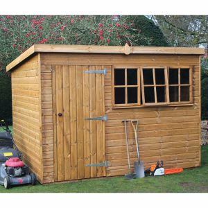 8' x 8' (2.44x2.44m) Traditional Heavy Pent Shed