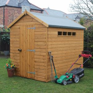 8' x 8' (2.44x2.44m) Traditional Apex Security Shed