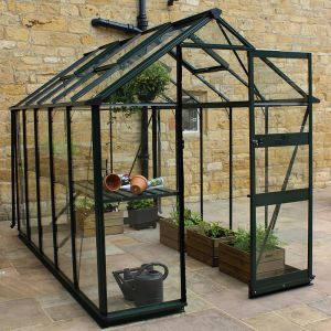 6' x 8' Eden Burford Small Greenhouse in Black (1.94m x 2.56m)