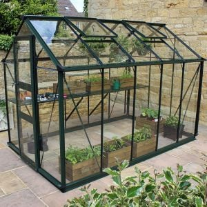 6' x 10' Eden Burford Small Greenhouse in Black (1.94m x 3.17m)