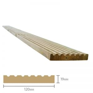 Treated Softwood Deck Board 19mm x 120mm x 2.4m Pck of 5