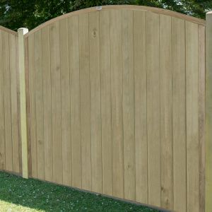 5'x6' (1.5x1.8m) Fence-Plus Domed Top Tongue and Groove Fence Panel