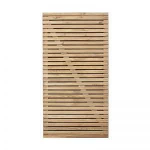 Forest 3'x6' Double Slatted Gate (0.9 x 1.8m)