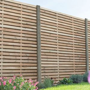 Forest Double Sided Slatted Panel 1.8m High