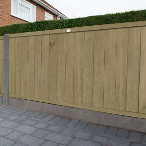 3ft (0.91m) High Forest Vertical Tongue and Groove Fence Panel