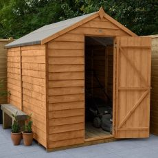 8' x 6' Forest Overlap Dip Treated Windowless Apex Wooden Shed